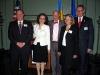 Hon. George Roth, Romanian Charge d\'Affaires, Daniela Gatman,former U.S. Secretary of State George Shultz,Hon. Consul General Dana Beldiman and the Consul General of Germany in February, 2007