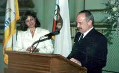 His Excellency, Sorin Potanc, Deputy Minister of the Economy and Industries of Romania, speaking at the Inauguration of the Honorary Consulate of Romania in San Francisco, April 26, 2000
