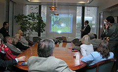 August 2, 2005, His Excellency Sorin Ducaru, Ambassador of Romania in the U.S., held a speech at the Honorary Consulate in San Francisco.