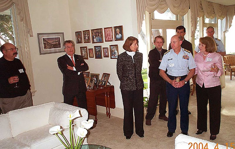Hon. Consul General and Honorary Vice-Dean of San Francisco Consular Corps at meeting with U.S. Coast Guard, San Francisco, April 15, 2004