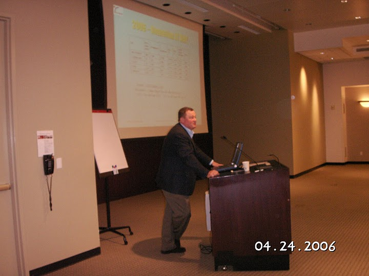 "Hon. Consul George Roth presenting at ""Business in Romania in the Era of Pre-Accession to the European Union"", Palo Alto, April 24, 2006"