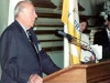 The Honorable George Shultz, former US Secretary of State, speaking at the Inauguration of the Honorary Consulate of Romania in San Francisco, April 26, 200